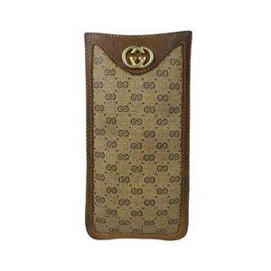 Gucci GG Vintage Leather Sunglasses Case